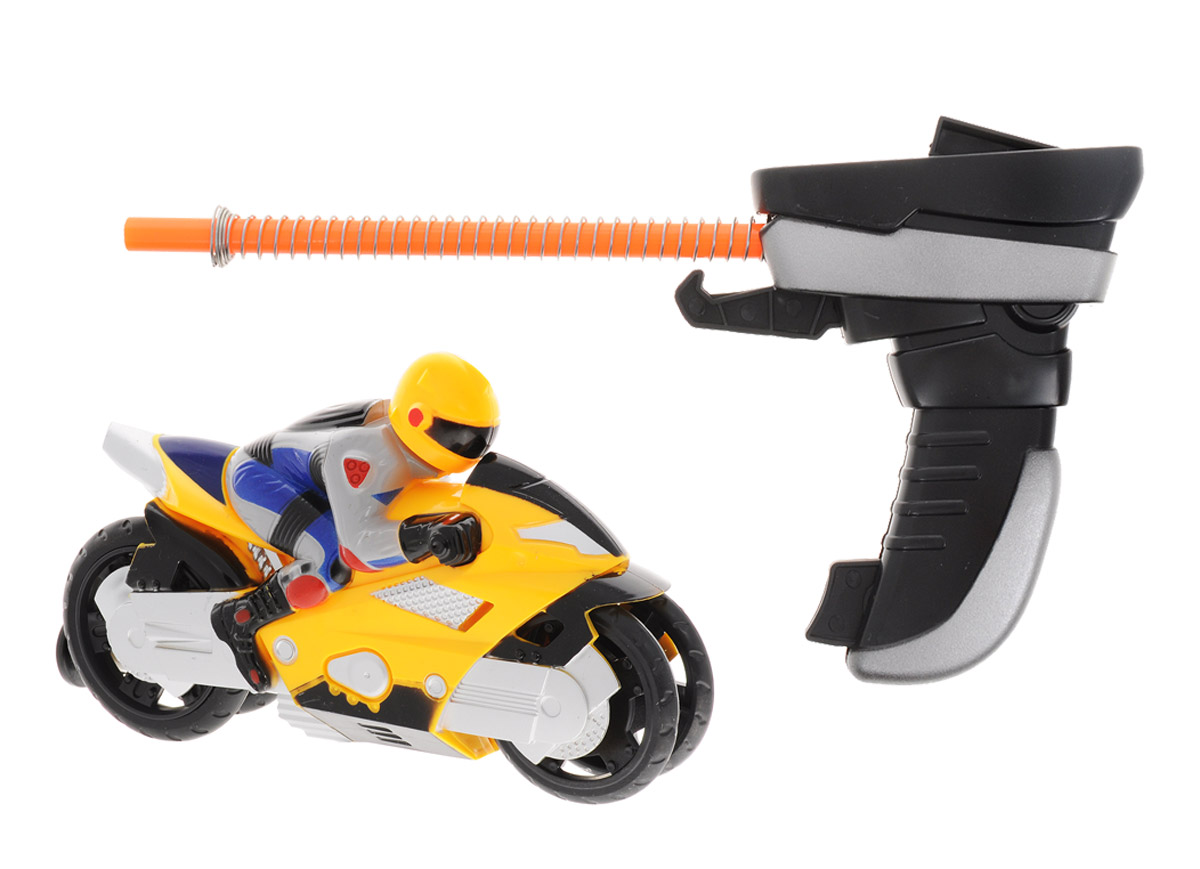 Big Motors Мотоцикл Гонщик цвет желтый big игрушки