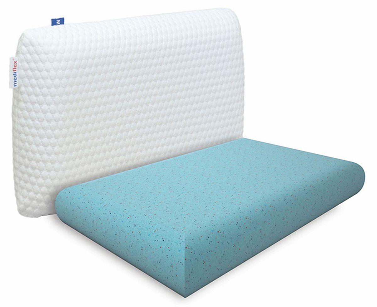 Подушка ортопедическая Mediflex Aura, размер S, 50 х 70 см подушки ортопедические luomma подушка ортопедическая