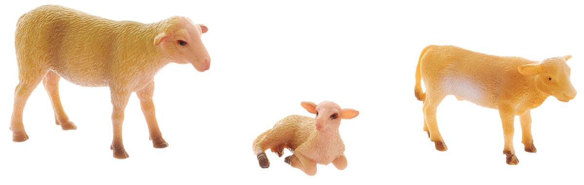 Ami&Co Набор фигурок Ферма 3 шт фигурки игрушки amico динозавр брахиозавр