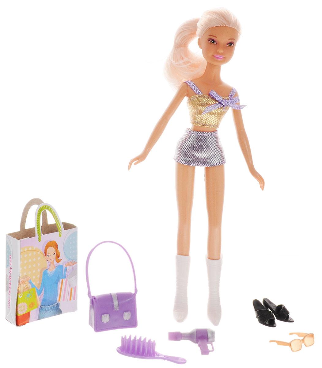 Defa Кукла Lucy Модница цвет одежды золотистый фиолетовый кукла defa lucy 8166