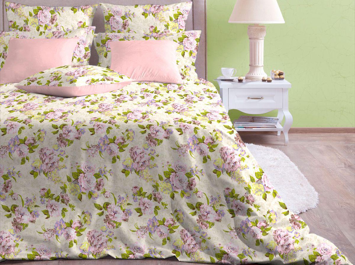 Комплект белья Хлопковый Край Розарий, 1,5-спальный, наволочки 70x70 комплект семейного белья василиса нежная роза 4172 1 70x70 c рб