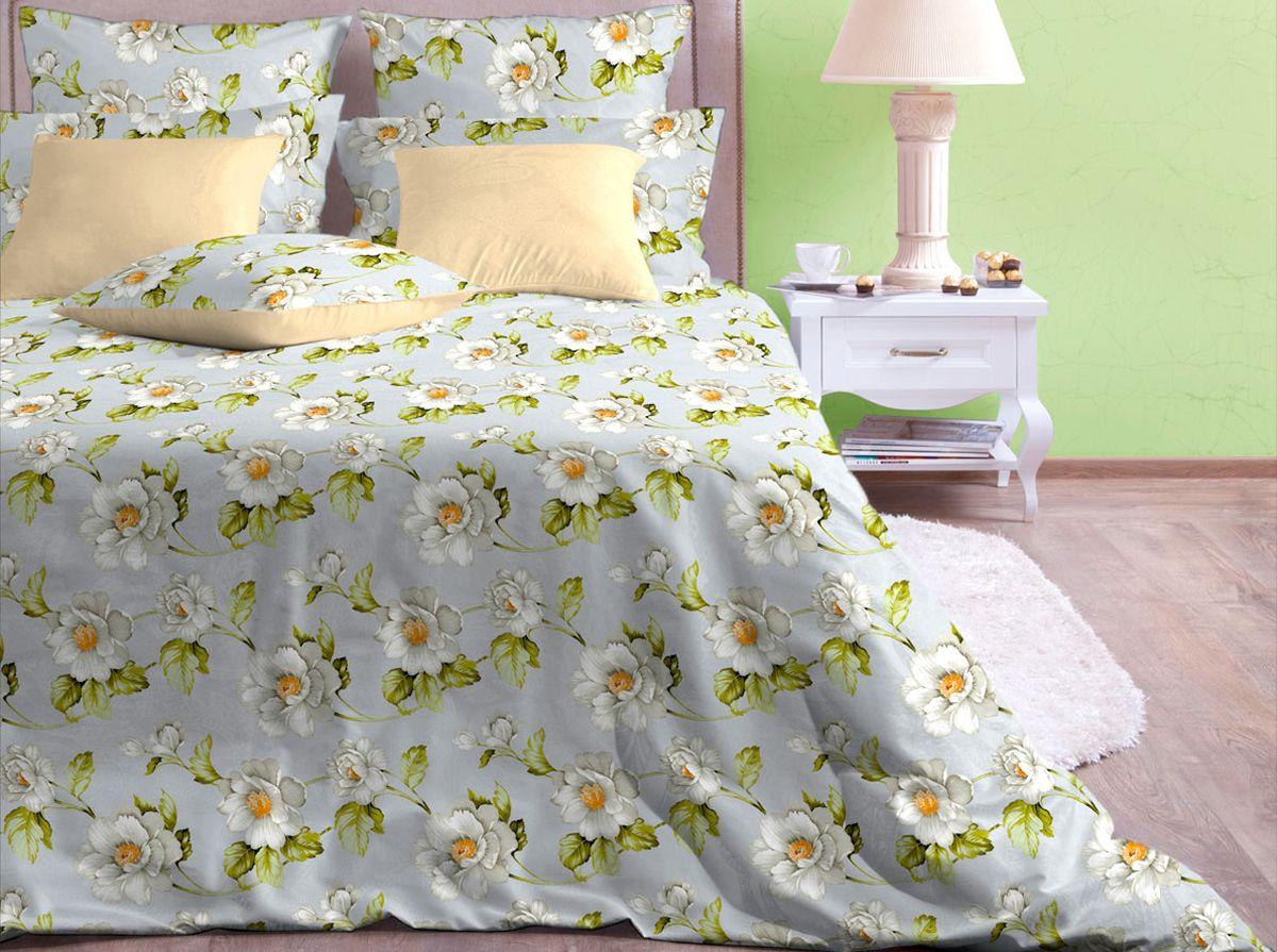 Комплект белья Хлопковый Край Пастель, 1,5-спальный, наволочки 70x70 комплект белья хлопковый край краснодар 2 спальный наволочки 70х70 цвет черный белый зеленый 706 1фк