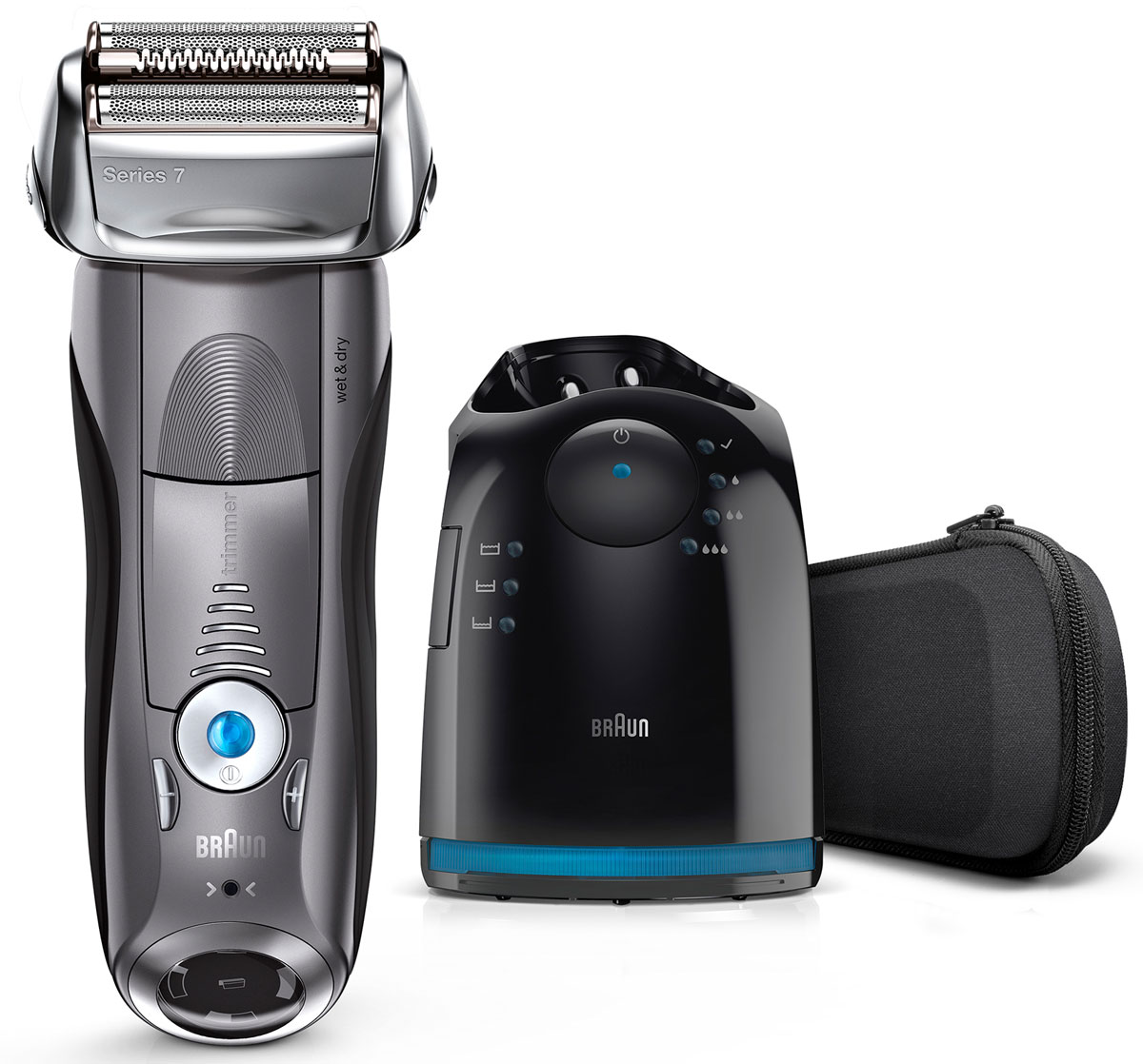 Braun Series 7 7865cc Wet&Dry, Grey электробритва электробритва series 3 3050 с системой clean&charge