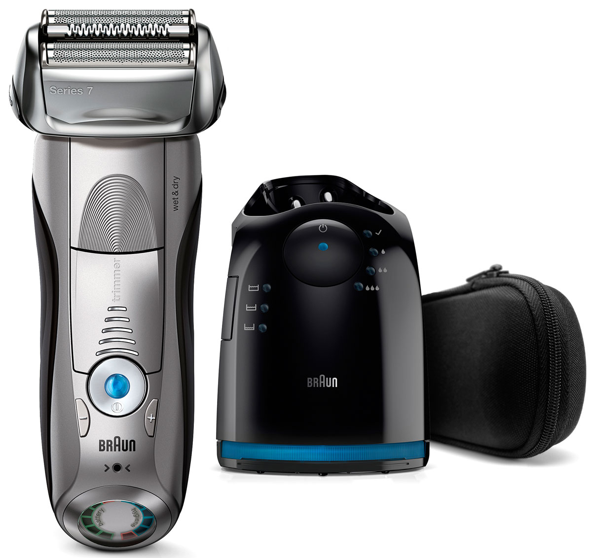 Braun Series 7 7899cc Wet&Dry, Grey электробритва электробритва series 3 3050 с системой clean&charge