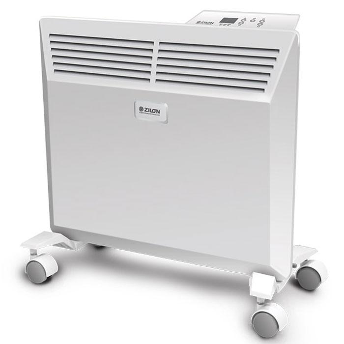 ZILON ZHC-1500 Е3.0 электрический конвекторZHC-1500 Е3.0Электрический конвектор ZILON ZHC-1500 Е3.0 - это современный, надежный, мобильный и экономичный обогреватель. Компактные размеры делают конвектор ZILON идеальным решением для обогрева жилых помещений, офисов, квартир. Работа конвектора ZHC-1500 Е3.0 основана на принципе естественной конвекции: холодный воздух поступает внутрь обогревателя через отверстие в нижней части и, проходя через нагревательный элемент, уже нагретый воздух выходит через жалюзи, расположенные на передней панели обогревателя. ZILON ZHC-1500 Е3.0 оснащен электронной панелью управления.Особая форма корпуса конвектора улучшает конвекцию горячего воздуха за счёт расширяющегося кверху воздушного каналаДоработан конструктив шасси, которые теперь крепятся на защелки, без саморезов. Прибор можно установить за считанные секунды без помощи каких-либо инструментовФункция отключения конвектора при отклонении от вертикали сверх нормы гарантирует полную безопасность пользователя. А новый доработанный конструктив шасси исключает случайное опрокидывание прибораС влагостойким исполнением корпуса прибора IP24 прибор можно использовать в помещениях с повышенной влажностью и обилием брызгЦельнолитная конструкция Х-образного элемента, выполненная по особой технологии, имеет ребристую структуру, что сводит к минимуму перегрев оборудования и увеличивает срок службы прибора