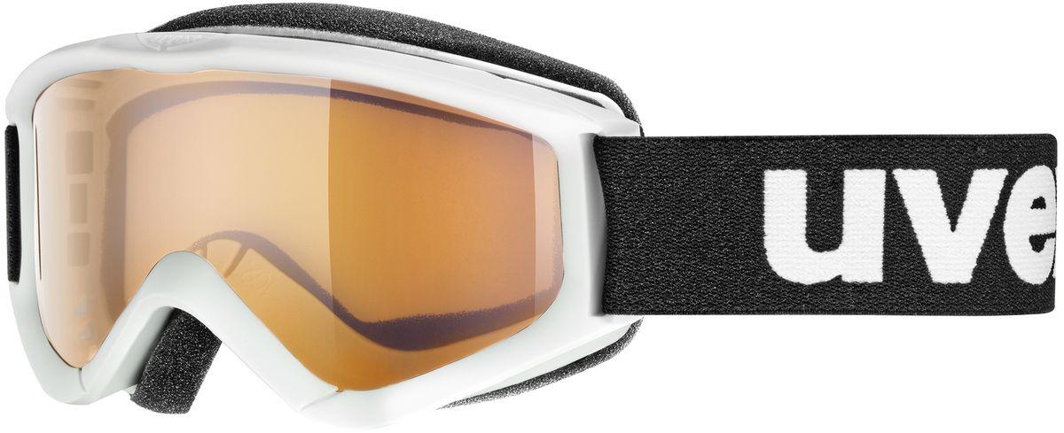 Маска горнолыжная детская Uvex Speedy Pro, цвет: белый3819-1112Детская горнолыжная маска Uvex Speedy Pro с одинарными линзами цилиндрической формы подойдет для катания в туманную или облачную погоду, а также при искусственном освещении. Модель разработана специально для детей и подростков. Поликарбонатная линза усиливает контрастность и не запотевает благодаря покрытию Supravision. В модели также предусмотрены удобный уплотнитель и вентиляция.Технология 100% UVA- UVB- UVC-PROTECTION гарантирует защиту от УФ-лучей. Маска совместима со шлемом.