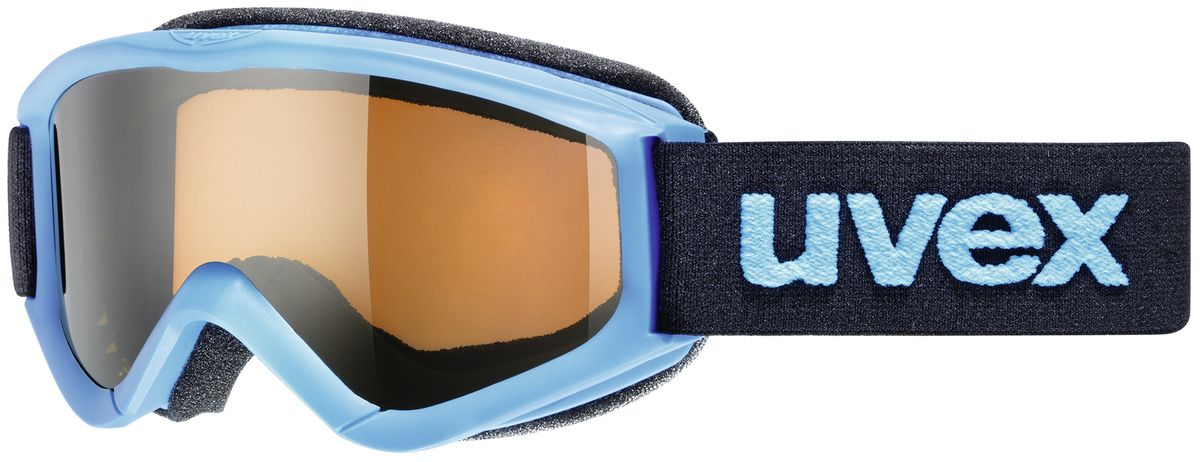 Маска горнолыжная детская Uvex Speedy Pro, цвет: синий3819-4012Детская горнолыжная маска Uvex Speedy Pro с одинарными линзами цилиндрической формы подойдет для катания в туманную или облачную погоду, а также при искусственном освещении. Модель разработана специально для детей и подростков. Поликарбонатная линза усиливает контрастность и не запотевает благодаря покрытию Supravision. В модели также предусмотрены удобный уплотнитель и вентиляция.Технология 100% UVA- UVB- UVC-PROTECTION гарантирует защиту от УФ-лучей. Маска совместима со шлемом.