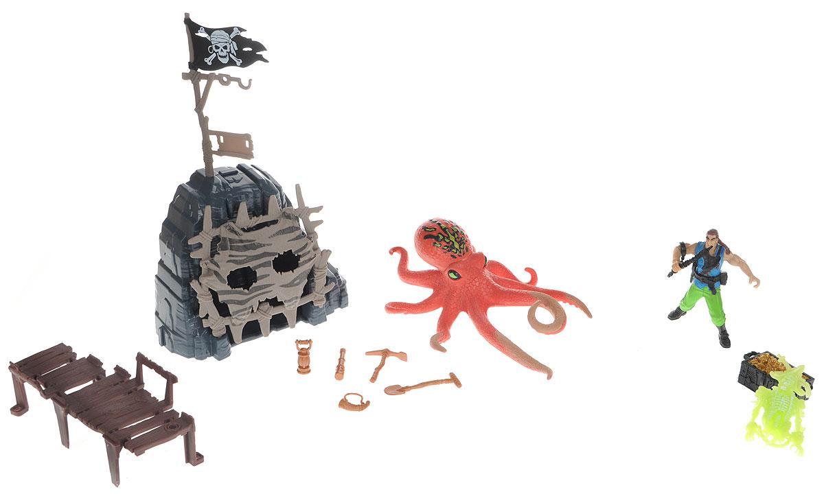 Chap Mei Игровой набор Пираты Сражение с осьминогом chap mei игровой набор акванавт на скутере