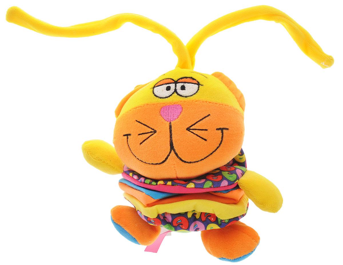 Bondibon Мягкая развивающая игрушка Кот bondibon мягкая игрушка погремушка слоник