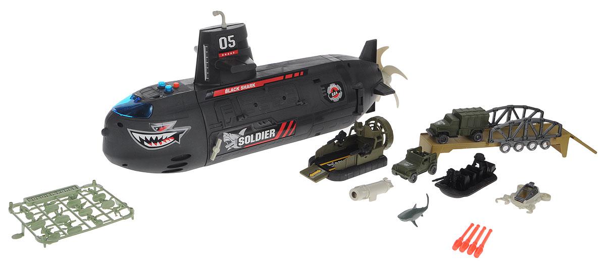 Chap Mei Игровой набор Нано-Армия Подводная лодка игровой набор солдатиков 18 штук коричневый