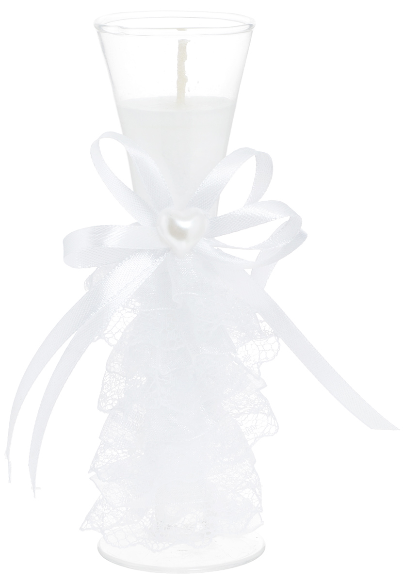 Свеча декоративная Win Max Свадебная, высота 15 см. 9470594705Декоративная свеча Win Max Свадебная изготовлена из воска и расположена в стеклянной колбе. Изделие оформлено декоративным камнем и текстильным лентами . Такая свеча может стать отличным подарком или дополнить интерьер вашей комнаты.Диаметр основания колбы: 5 см.