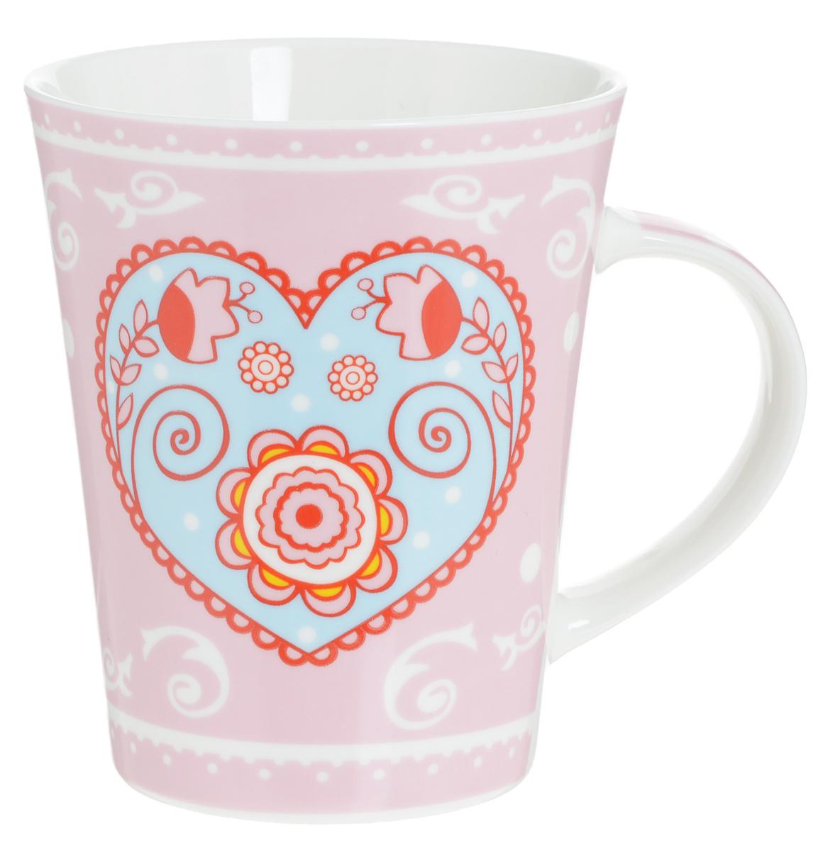 Кружка Loraine Сердце, цвет: розовый, голубой, 400 мл22118_голубое сердцеОригинальная кружка Loraine Сердце выполнена из высококачественной керамики и украшена изображением сердечек и надписями. Изделие оснащено эргономичной ручкой. Кружка Loraine Love сочетает в себе яркийдизайн и функциональность. Она согреет вас долгими холодными вечерами. Диаметр (по верхнему краю): 9 см. Высота кружки: 10,7 см.Объем: 400 мл.