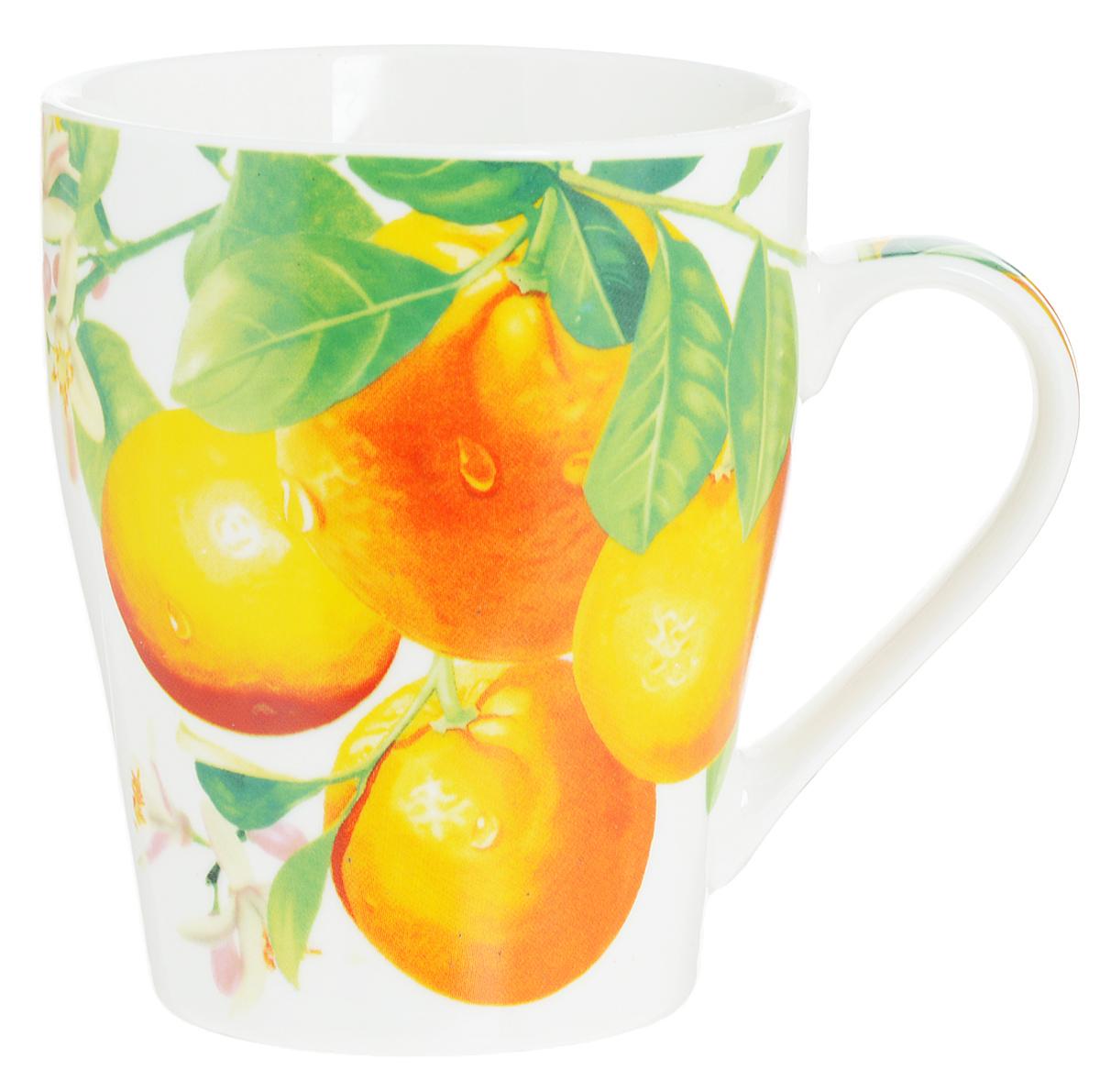 Кружка Loraine Апельсины, 340 мл кружка loraine десерт 340 мл 26588