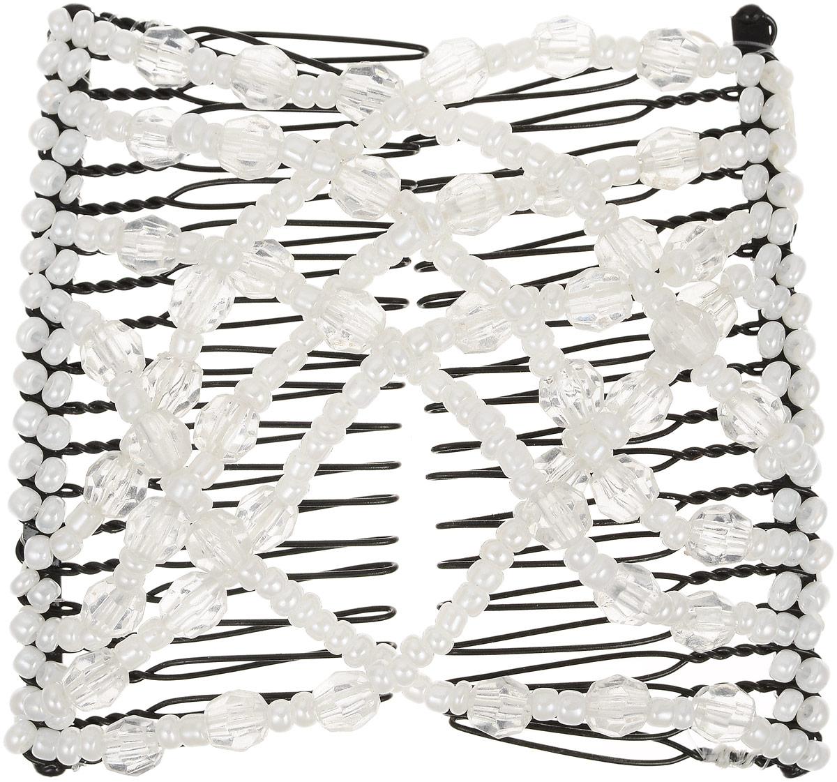 EZ-Combs Заколка Изи-Комбс, одинарная, цвет: белый, прозрачный. ЗИО ez combs заколка изи комбс одинарная цвет коричневый зио сердечки