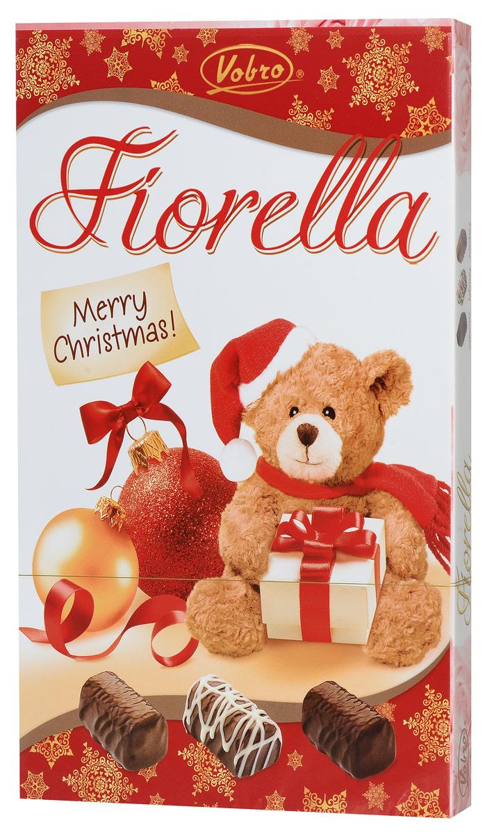 Vobro Fiorella набор шоколадных конфет, 140 г9352Vobro Fiorella - набор шоколадных конфет с тремя вкусами. Под деликатным шоколадом скрыт вкус кокоса, ореха и капучино. Конфеты доступны в различных графических упаковках.