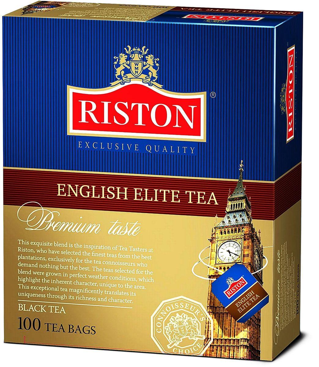 Riston Элитный Английский черный чай в пакетиках, 100 шт riston файнест цейлон черный чай в пакетиках 100 шт