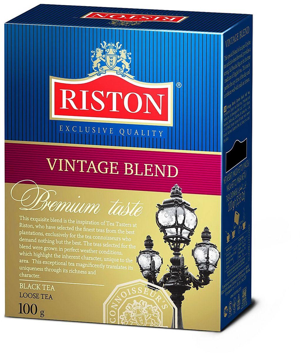 Riston Винтэйдж Бленд черный листовой чай, 100 г teacher карельский чай цветочно травяной купаж 500 г