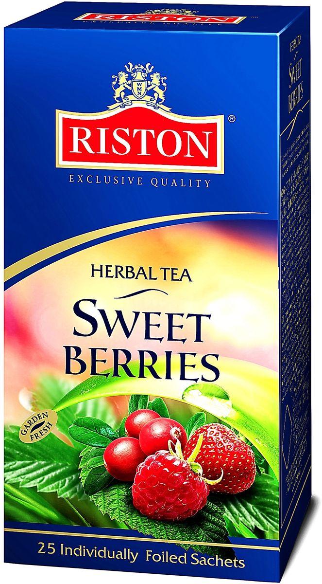 Riston Сладкие Ягоды травяной чай в пакетиках, 25 шт riston файнест цейлон черный чай в пакетиках 100 шт