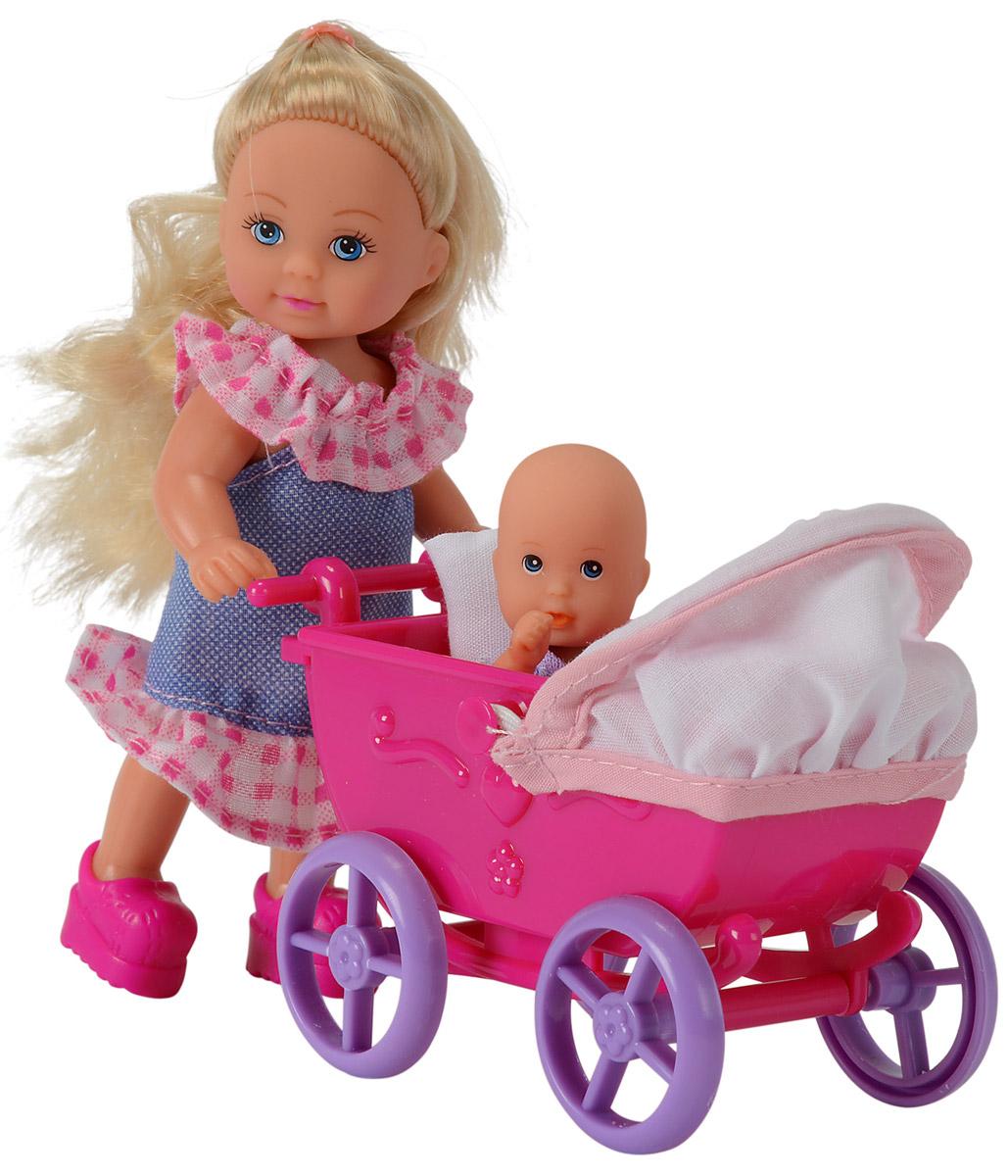 Simba Кукла Еви в платье с малышом simba игровой набор с мини куклой evi love fairy carriage