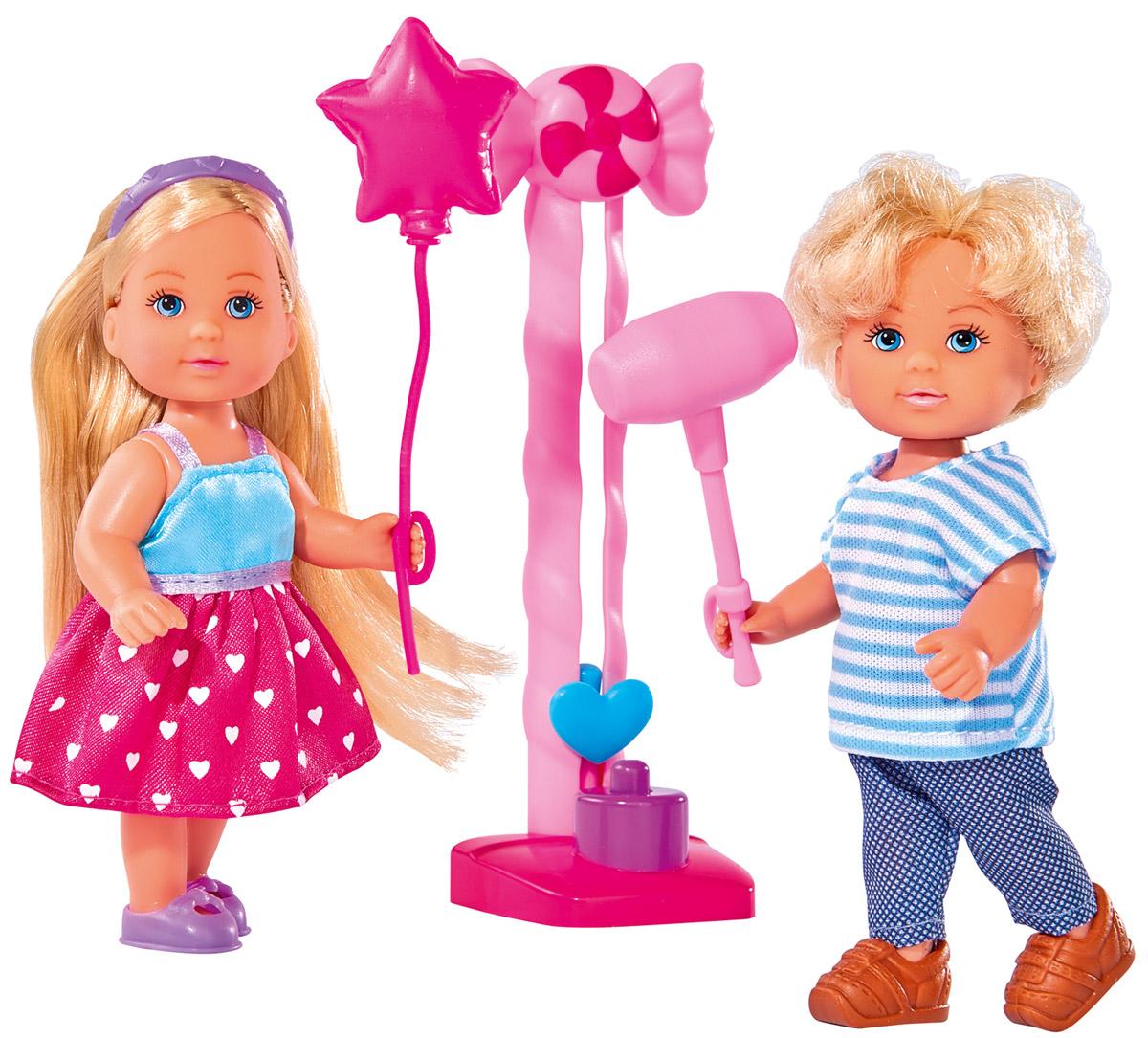 Simba Набор кукол Еви и Тимми на аттракционах куклы и одежда для кукол simba кукла еви и тимми на аттракционах 12 cм