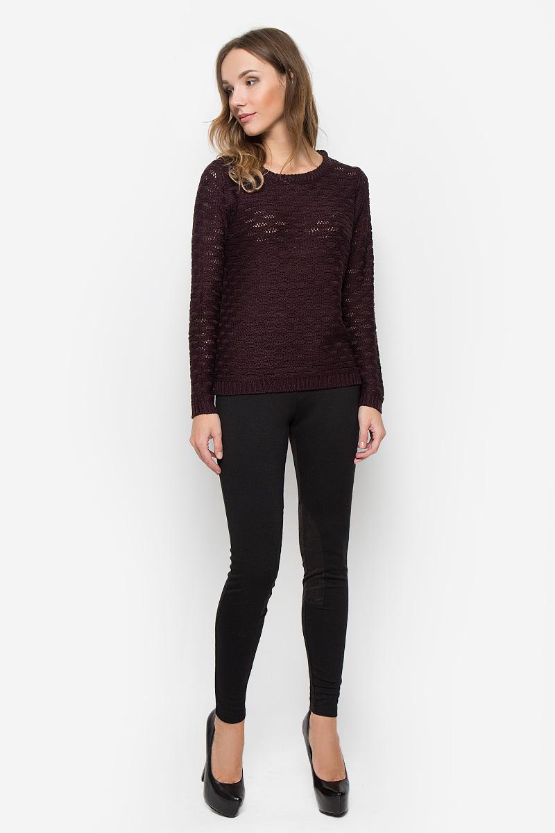 Пуловер женский Broadway, цвет: бордовый. 10156684. Размер L (48)10156684_357Женский пуловер Broadway изготовлен из высококачественной пряжи акрила. Модель с круглым вырезом горловины и длинными рукавами. Низ, манжеты и вырез горловины пуловера связаны резинкой.