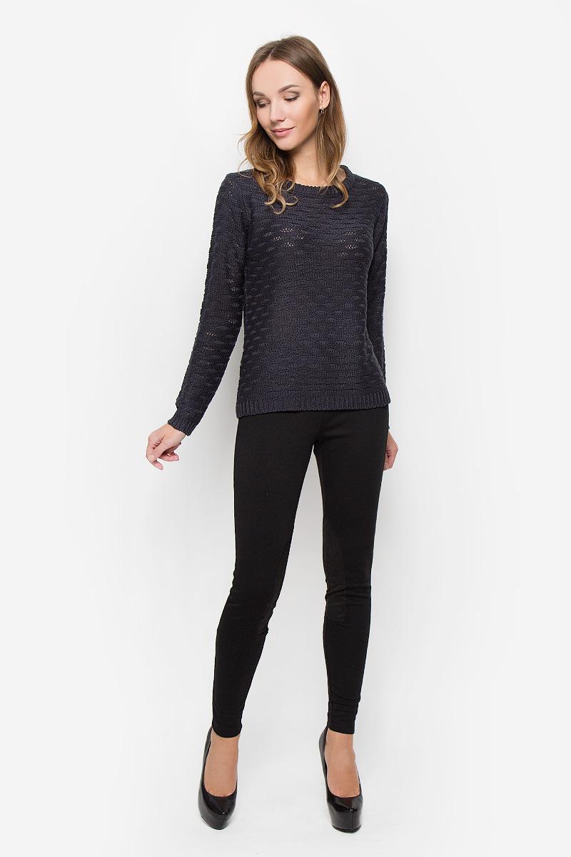 Пуловер женский Broadway, цвет: темно-синий. 10156684. Размер XL (50) лонгслив женский broadway alessia цвет дымчато розовый 10156860 460 размер xl 50