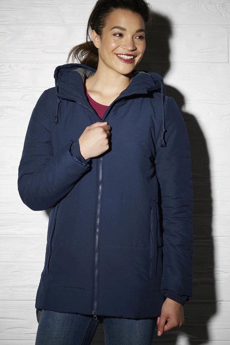 Куртка женская Reebok Padded Jacket Mid, цвет: синий. AY0471. Размер M (46/48)AY0471Утепленная куртка Mid изысканного стиля, отлично защитит от холода — вот основные характеристики этой незаменимой для грядущего сезона модели. Удобный капюшон позволит не беспокоиться о порывах ветра, а карманы отлично подходят для хранения мелочей. Облегающий крой отлично подходит для интенсивных тренировок и совершенно не стесняет движений. Влагоотталкивающий внешний материал обеспечит надежную защиту от непогоды. Слегка удлиненная спинка для уверенности.