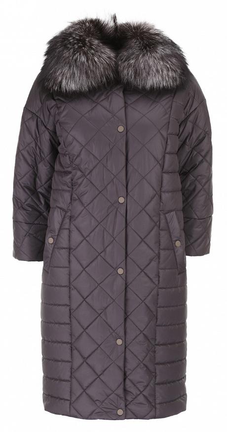 Пальто женское Baon, цвет: коричневый. B036652. Размер 54B036652_DARK CHOCOLATEЖенское пальто Baon с рукавами 3/4 и отложным воротником выполнено из полиамида. Наполнитель - полиэстер. Пальто застегивается на застежку-молнию спереди, имеется ветрозащитный клапан на кнопках. Воротник украшен натуральным мехом. Изделие дополнено двумя втачными карманами на кнопках спереди.