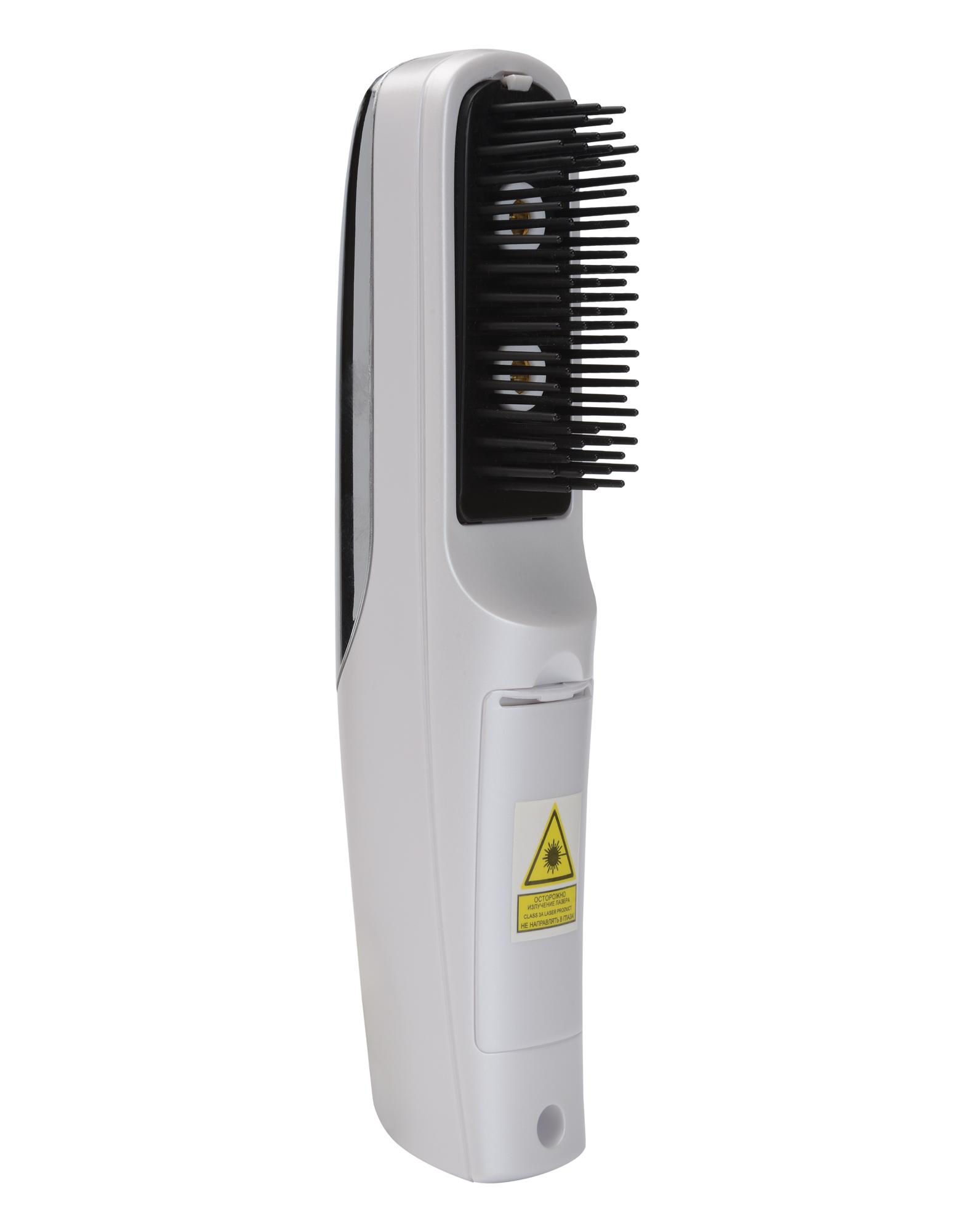Gezatone HS586 Прибор для массажа кожи головы Laser Hair1301092SВ лазерной щетке Gezatone Laser Hair применяется лазерное излучение в сочетании с вибромассажем, эти две методики успешно применяются для различных целей, в том числе для восстановления волосистой части головы. Воздействие «мягким» лазером с низкой интенсивностью излучения стимулирует волосяной фолликул на производство волоса, в результатеволосы лучше растут и меньше выпадают, активизируются фолликулы, находящиеся в «спящем» состоянии. Но этим действие лазера не ограничивается, ведь именно низкоинтенсивный лазер запускает процесс восстановления энергетических процессов, то есть клетки восполняют дефицит энергии, укрепляя волосы, делая их более гладкими и блестящими.Лазерное излучение оздоравливает кожу, препятствуя появлению перхоти, снижает повышенную выработку кожного сала, улучшает выработку витамина D, который необходим волосам. Глубокий вибрационный массаж мягко и нежно стимулирует местный кровоток и лимфоток, снимает спазм сосудов головы, что приводит к снятию болевых синдромов, избавлению от стресса и усталости.Благодаря вибромассажу волосяные луковицы активно насыщаются кислородом, получают больше питательных веществ, и, как следствие, продуцируют более здоровый волос. Кроме того, лазерная расческа для волос оказывает расслабляющее действие, это превосходный массаж головы после тяжелого дня. Купить лазерную расческу стоит и в профилактических целях, ведь она прекрасно улучшает качество волос, укрепляет их изнутри, делая волосы более упругими, сильными и блестящими! Щётка работает от батареек. Комплектация:1. Лазерная щетка - 1 шт. 2. Инструкция по эксплуатации - 1 шт. Замечание: элементы питания не входят в комплект поставки.