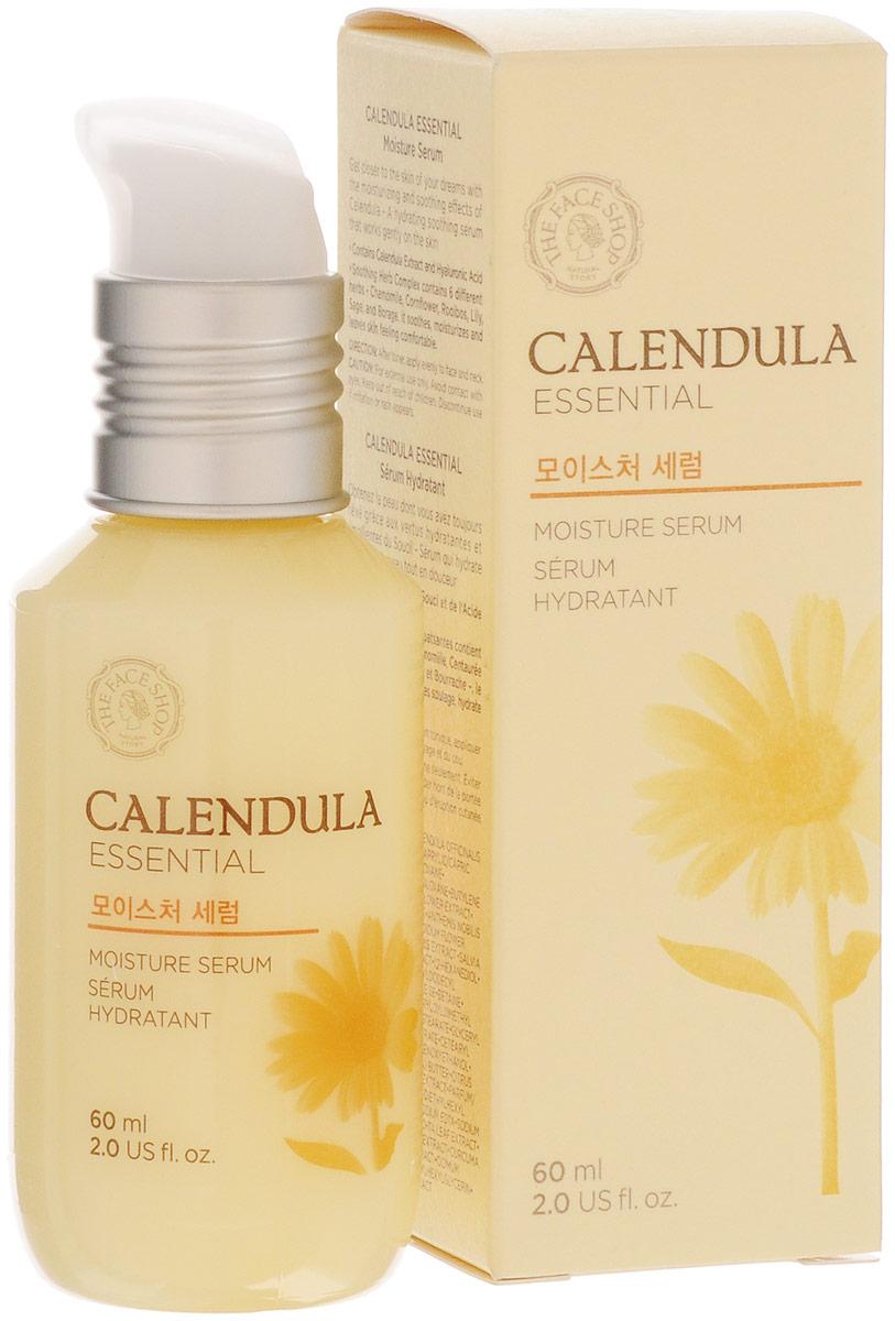 The Face Shop Увлажняющая сыворотка с календулой Calendula Essential, 60мл the face shop тонер для лица с экстрактом календулы calendula essential moisture 150 мл