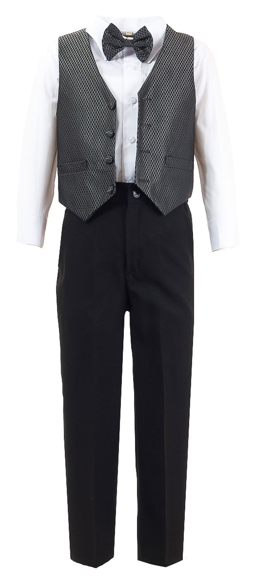 Костюм для мальчика M&D, цвет: темно-серый, черный, белый. HW14195-51. Размер 92