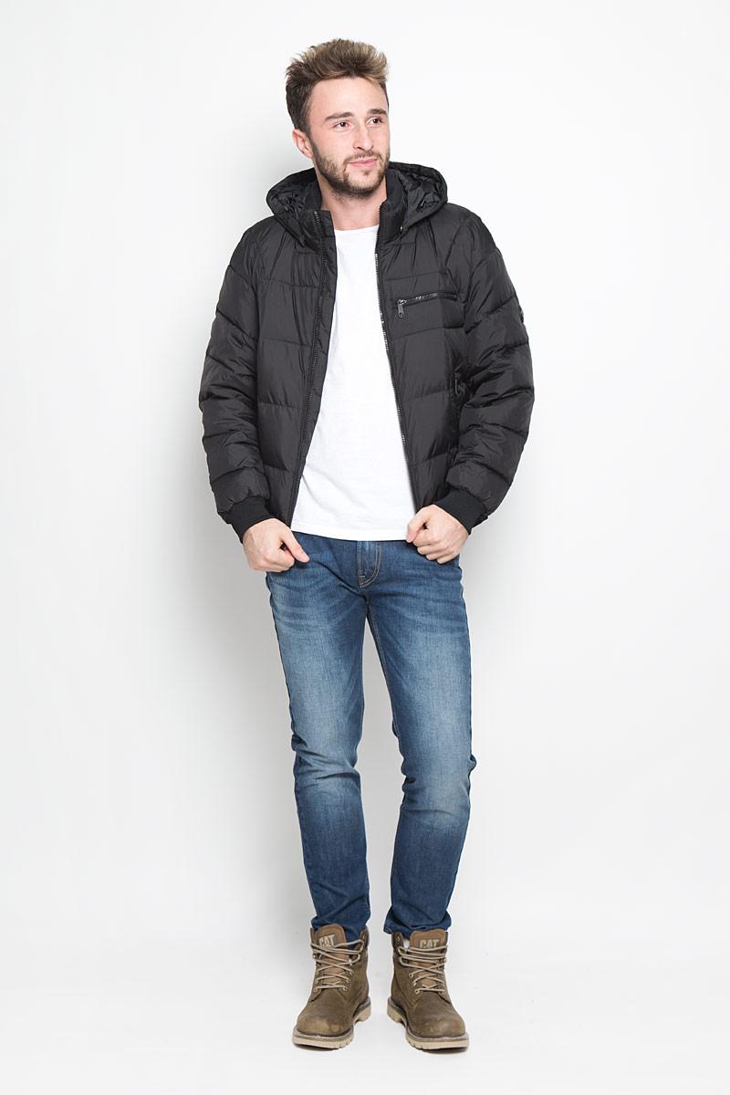 Куртка мужская Finn Flare, цвет: черный. W16-42005_200. Размер XXL (54)W16-42005_200