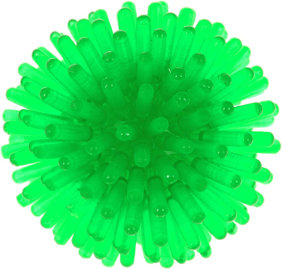 Игрушка для животных Каскад Мячик-шуршик, цвет: зеленый, диаметр 3,6 см игрушки для животных zoobaloo игрушка для кошки бамбук меховой мячик на резинке 60см