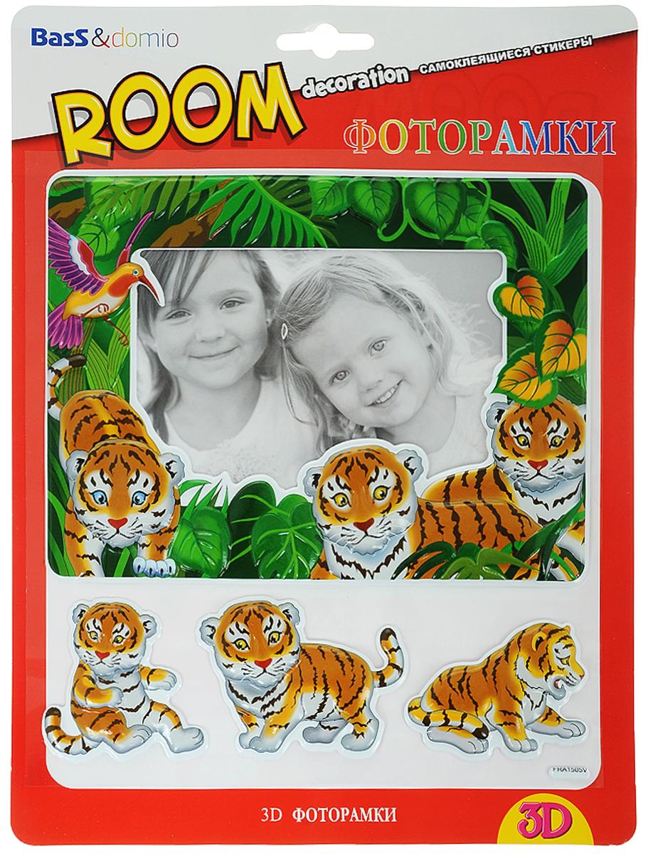 Наклейки для интерьера Room Decoration  Фоторамки с тигрятами , объемные -  Украшения для интерьера