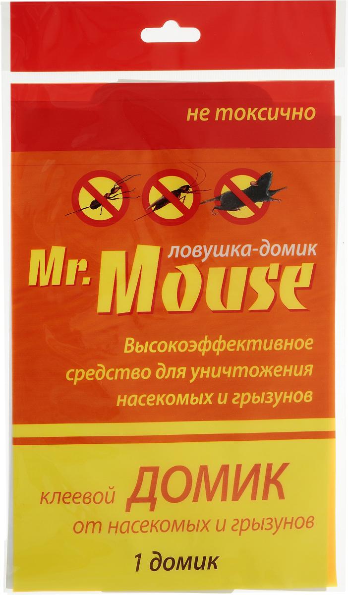 Домик от насекомых и грызунов Mr.Mouse, универсальный, клеевойСЗ.040012Клеевой домик Mr.Mouse - это высокоэффективное нетоксичное средство для уничтожения насекомых грызунов. Обладает высокой уловистостью и длительным фиксирующим действием. Абсолютно безвреден для человека и домашних животных, не оказывает раздражающего воздействия на кожу. Клеевые ловушки Mr.Mouse просты в применении и могут быть установлены в любом месте, в том числе и в местах хранения пищевых продуктов.Способы применения: Аккуратно открыть ловушку. Разместить в местах, где отмечены следы жизнедеятельности грызунов: возле нор, вдоль стен, перегородок. Для повышения привлекательности липкого покрытия в центр ловушки рекомендуется положить любую приманку. Для достижения лучшего результата рекомендуется использовать несколько ловушек одновременно. Для своевременной утилизации необходимо ежедневно осматривать ловушки. Состав: каучук 52%, производные полиизобутилена 25%, пищевой аттрактант 3%, масло минеральное 20%.