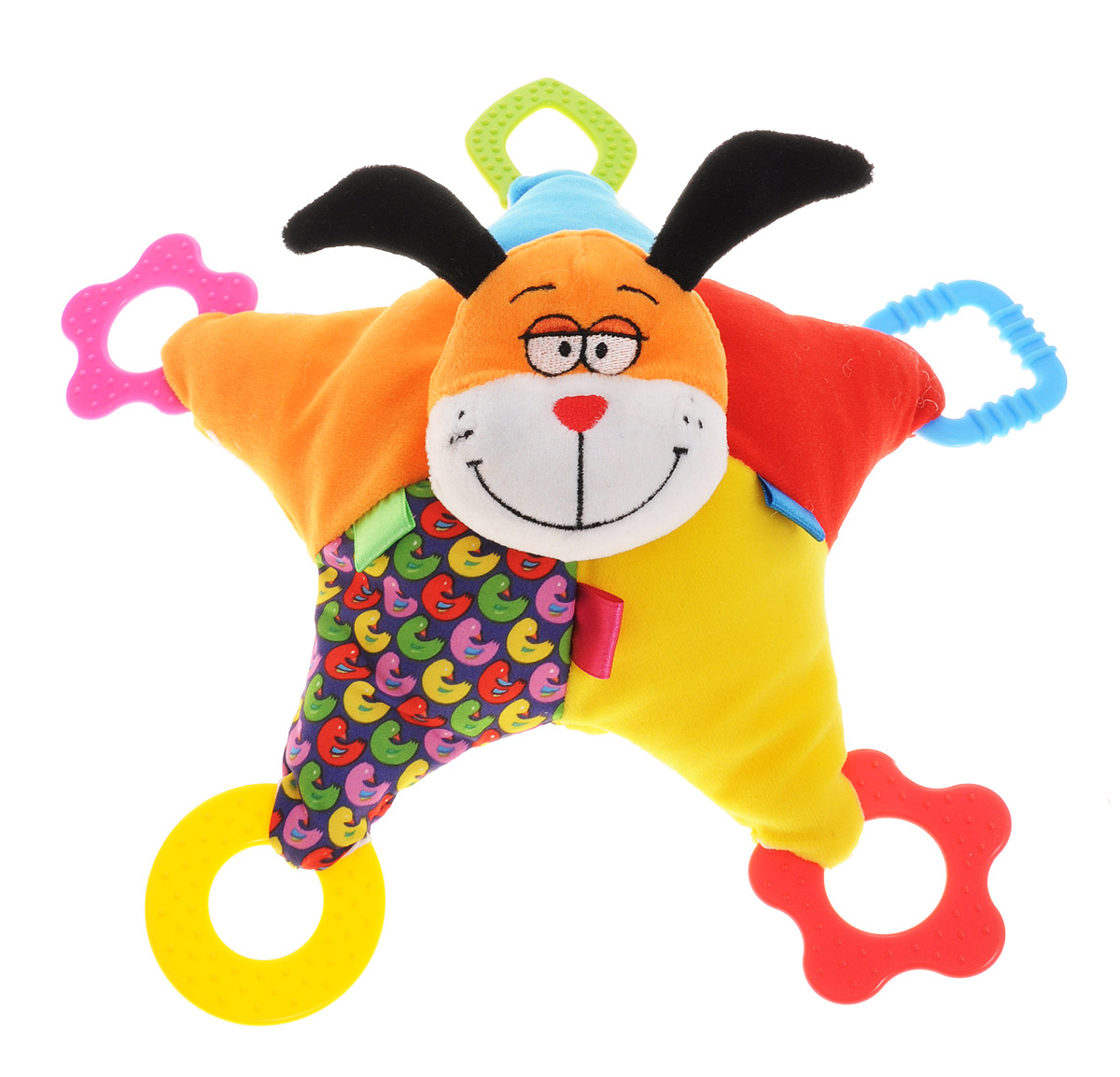 Bondibon Мягкая игрушка-погремушка Собака 32 см