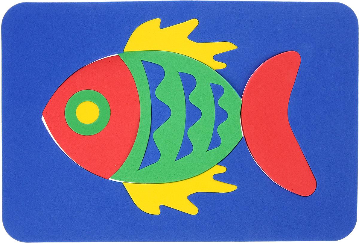 Август Пазл для малышей Рыбка цвет основы синий бомик пазл для малышей цифры цвет основы красный