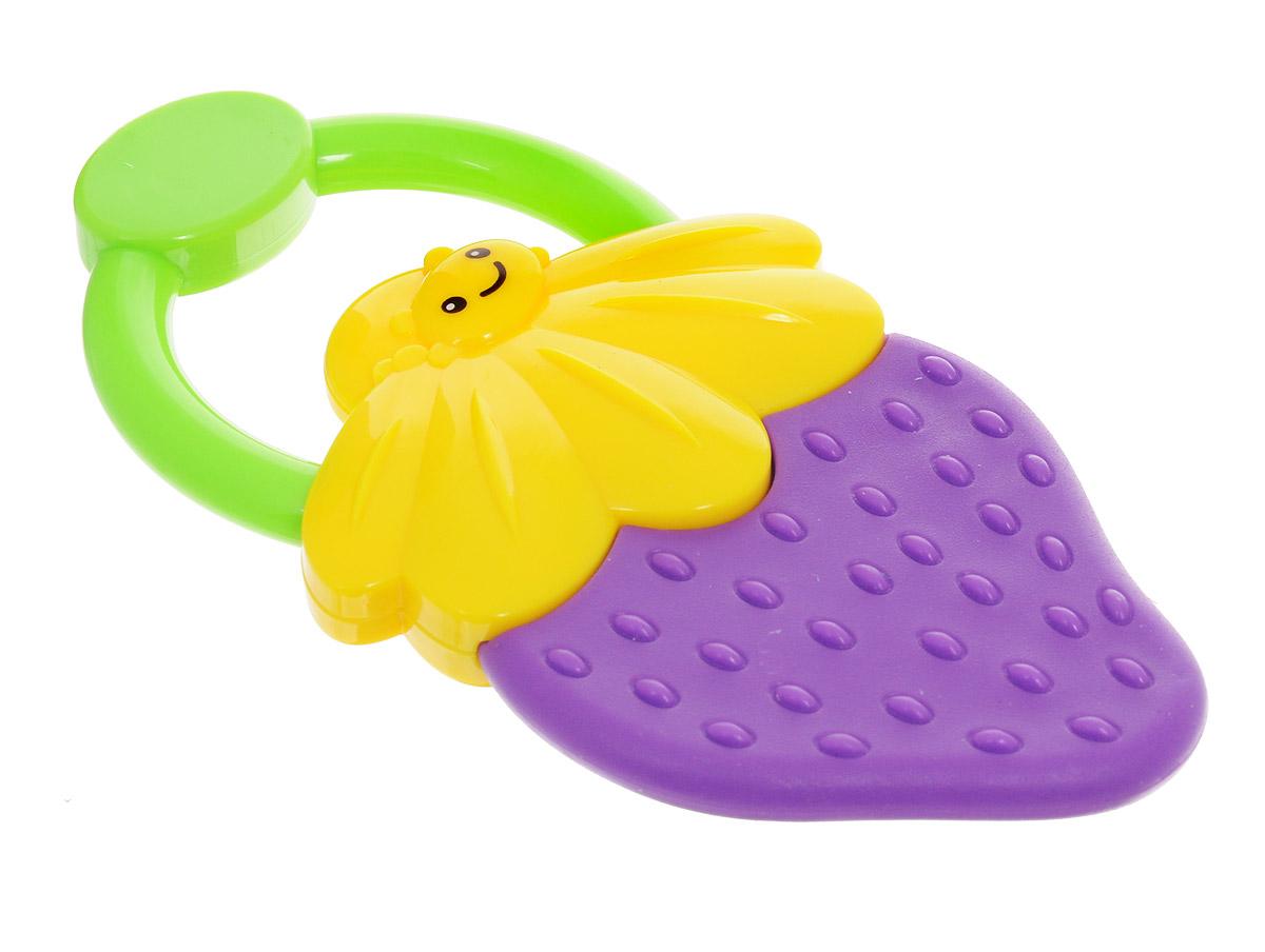 Bondibon Погремушка Ягодка цвет фиолетовый желтый