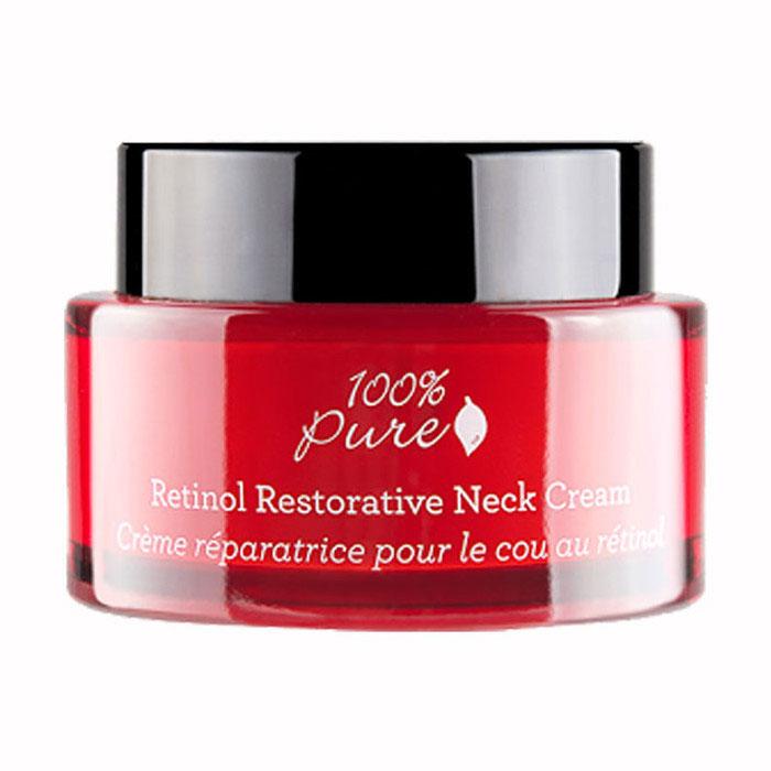 100% Pure Восстанавливающий крем для области шеи и декольте с ретинолом, 44 vk1FMRRNCКорректирующий крем для омолаживания кожи шеи и декольте. Осветляет и выравнивает тон кожи. Входящая в состав крема гидролизованная красная лебеда повышает эластичность, делая кожу более подтянутой. Ретинол уменьшает морщины, оливковое масло и гиалуроновая кислота делают кожу мягкой и гладкой.