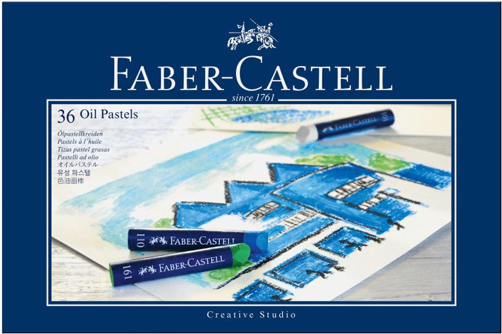 Faber-Castell Масляная пастель Studio Quality Oil Pastels 36 шт127036Набор Faber-Castell Studio Quality Oil Pastels содержит масляную пастель 36 цветов - от ярких активных тонов до приглушенных оттенков. Пастель выполнена в виде мелков круглой формы, каждый из которых обернут в бумажную гильзу. Мелки великолепного качества не крошатся при работе, обладают отличными кроющими свойствами, обеспечивают хорошее сцепление с поверхностью, яркость и долговечность изображения. Масляной пастелью Faber-Castell Studio Quality Oil Pastels можно рисовать в любой технике, сочетая ее с цветными карандашами и красками. При работе рекомендуется использовать шероховатые поверхности - специальную бумагу, картон, холст.