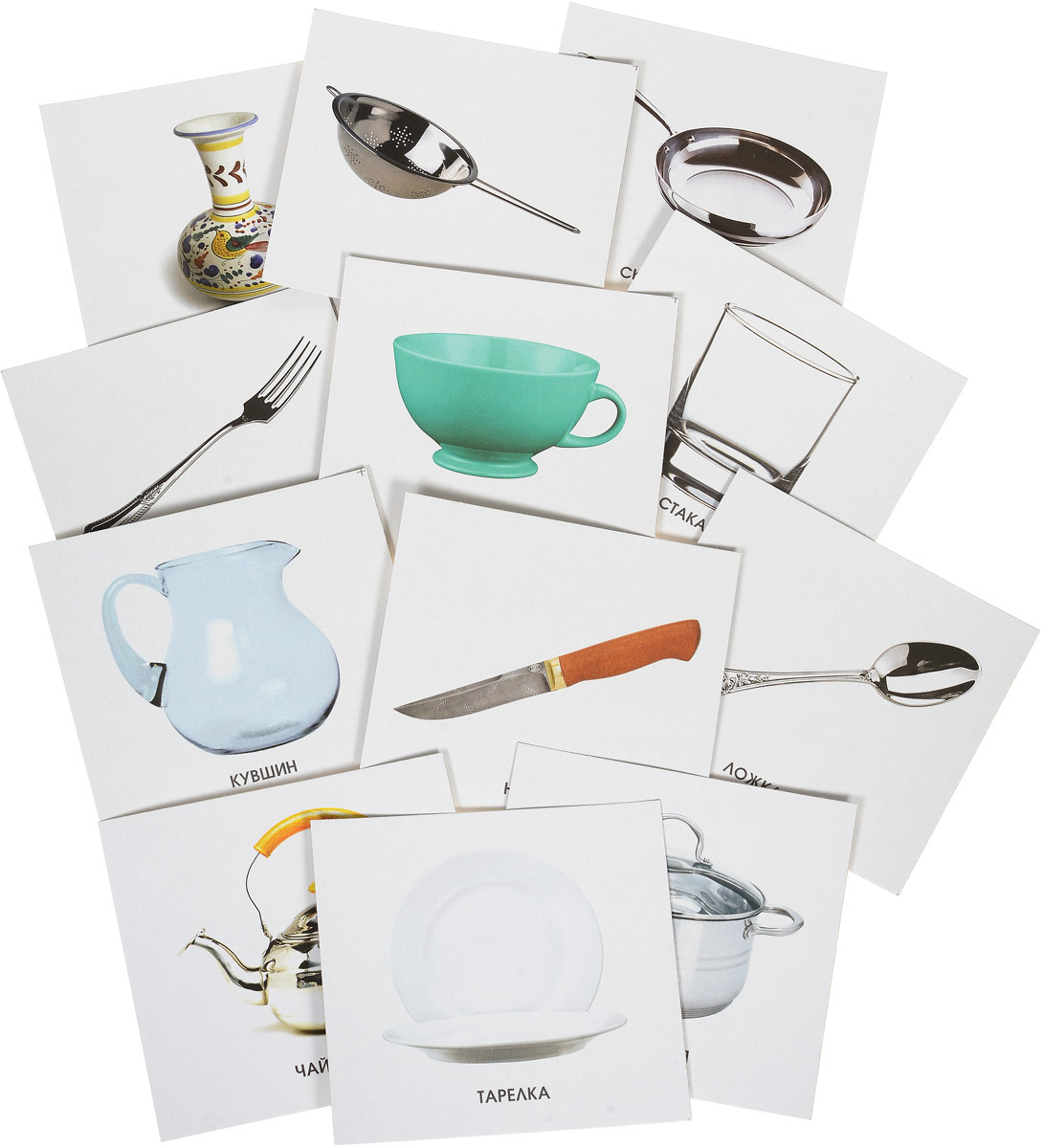 Улыбка Обучающие карточки Посуда улыбка обучающие карточки игрушки