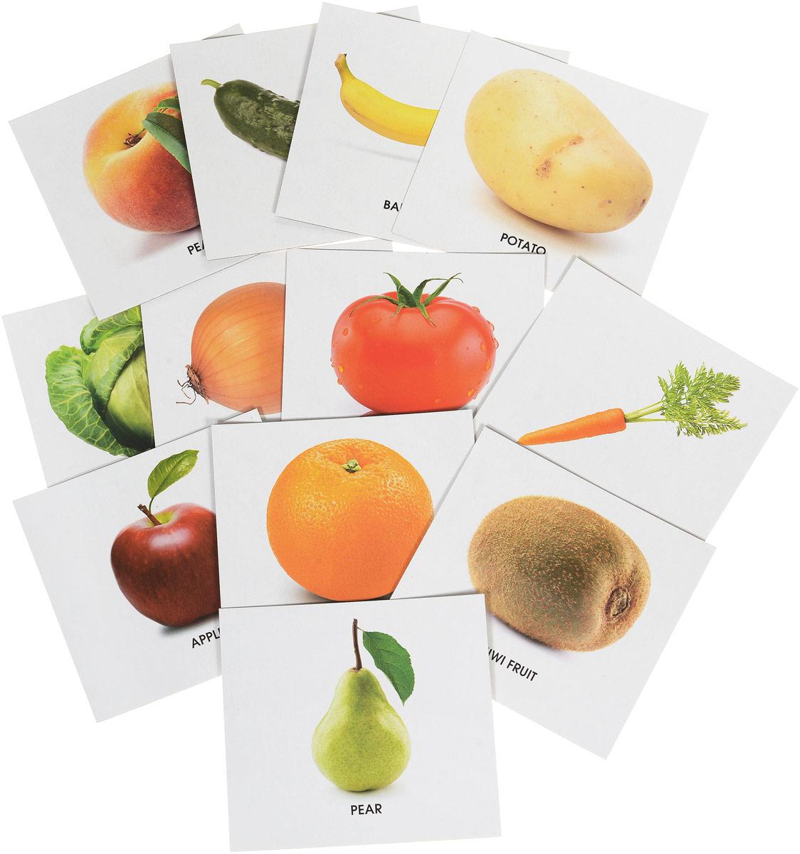 Улыбка Обучающие карточки Фрукты и овощи улыбка обучающие карточки игрушки