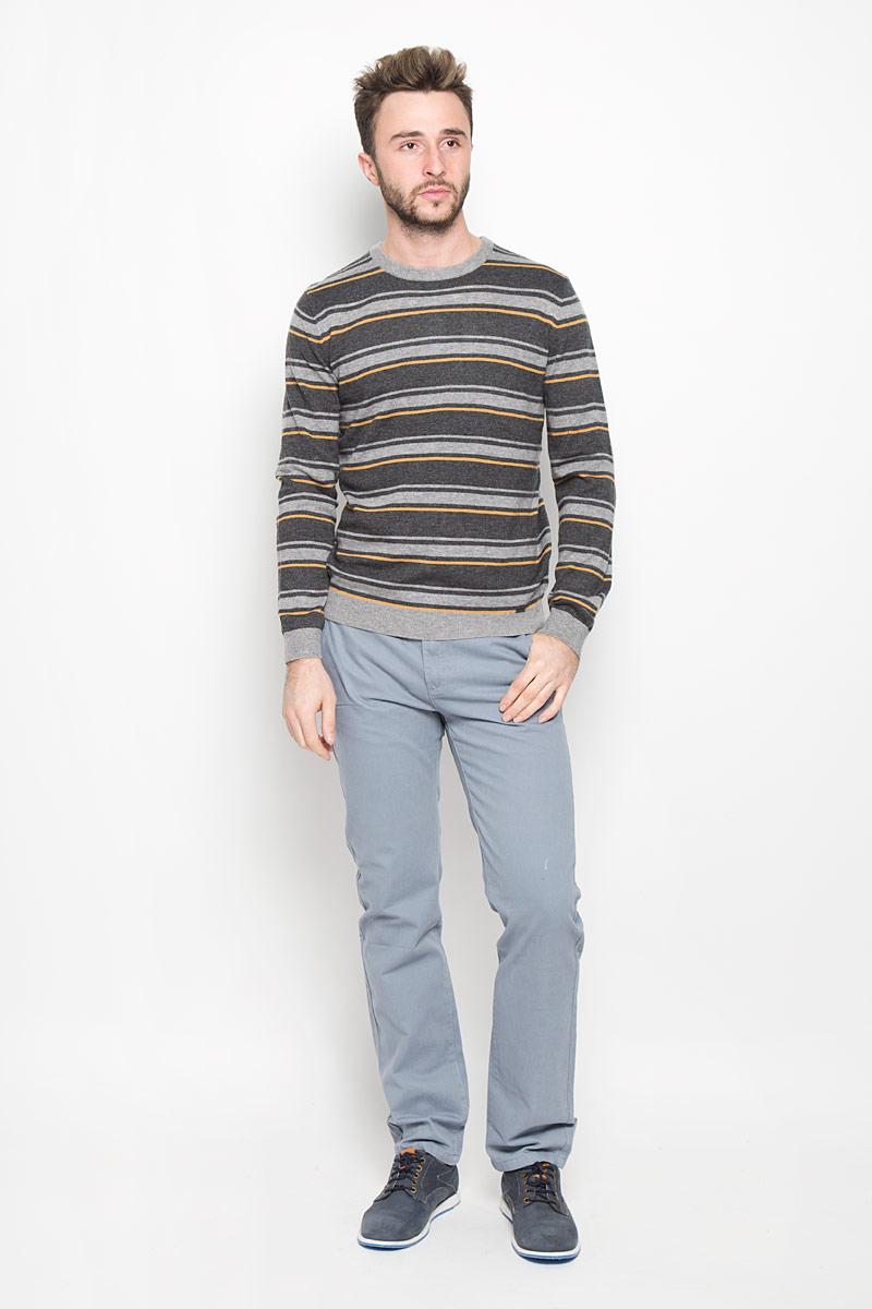 Джемпер мужской Finn Flare, цвет: серый. W16-21110_205. Размер L (50) платье finn flare цвет серый синий черный w16 11030 101 размер l 48