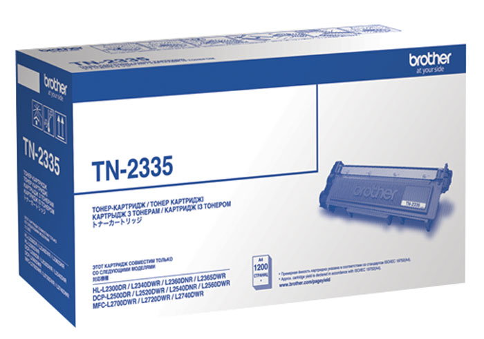Brother TN-2335 тонер-картридж для HL-L2300DR/HL-L2340DWR/HL-L2360DNR/HL-L2365DWR/DCP-L2500DR/DCP-L2520DWR/DCP-L2540DNR/DCP-L2560DWR/MFC-L2700DWR тонер brother bt5000y yellow для dcp t300 t500w t700w