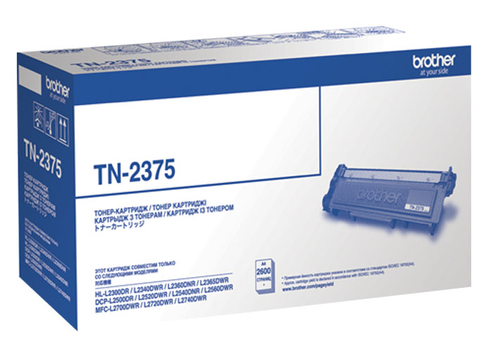 Brother TN-2375 тонер-картридж для HL-L2300DR/HL-L2340DWR/HL-L2360DNR/HL-L2365DWR/DCP-L2500DR/DCP-L2520DWR/DCP-L2540DNR/DCP-L2560DWR/MFC-L2700DWR тонер brother bt5000y yellow для dcp t300 t500w t700w