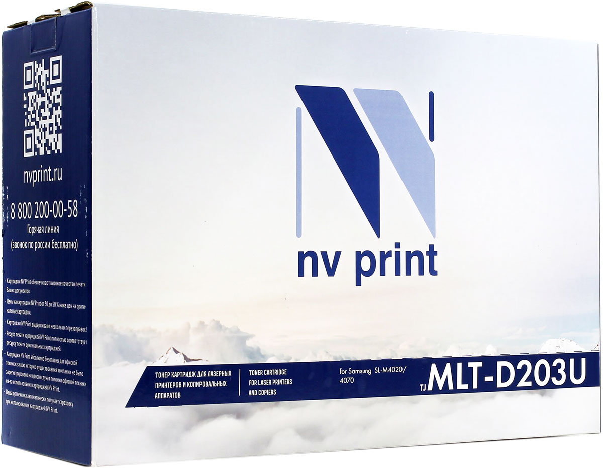 NV Print MLTD203U, Black тонер-картридж для Samsung ProXpress M4020ND/M4070FR nv print mltd203e black тонер картридж для samsung sl m3820 3870 4020 4070