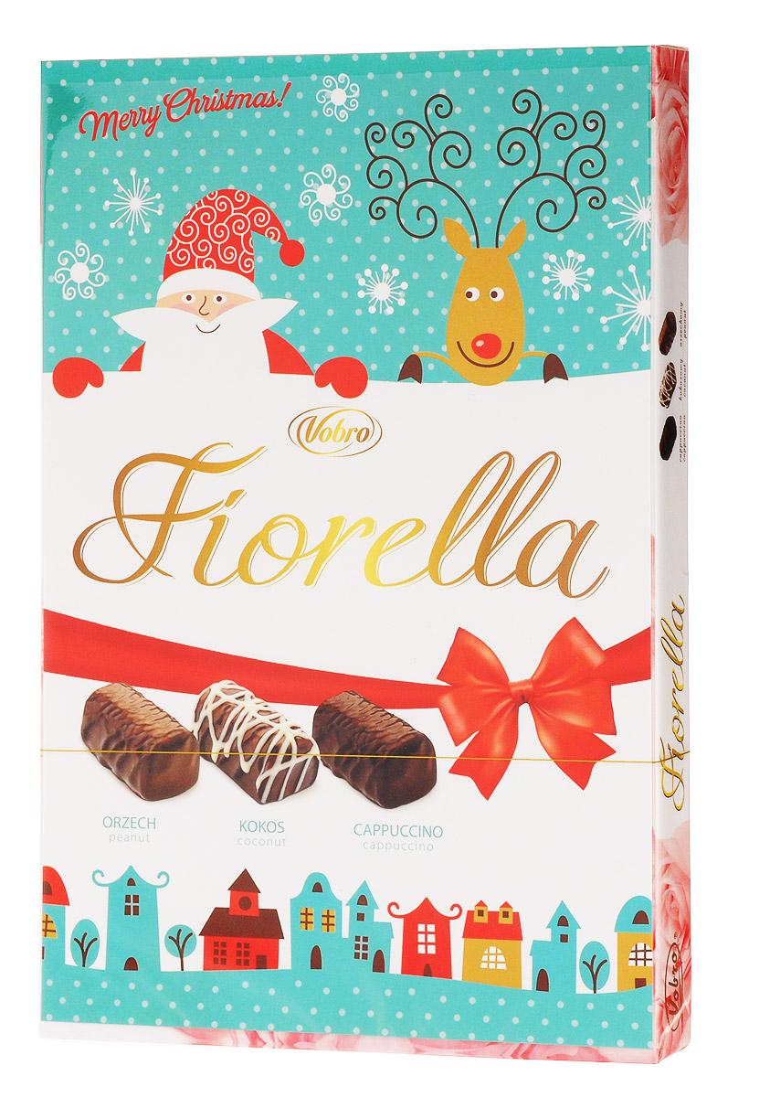 Vobro Fiorella Фиорелла набор шоколадных конфет, 140 г vobro cherry paradise набор шоколадных конфет вишня в ликере 105 г