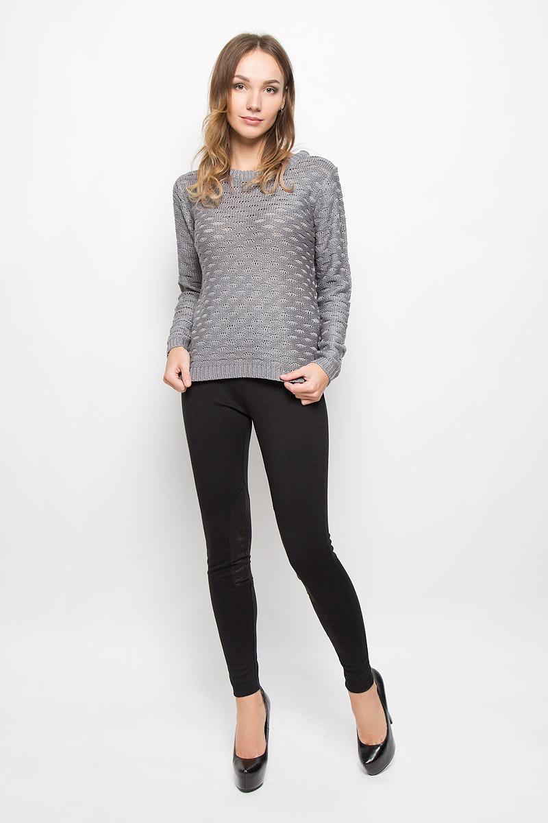 Пуловер женский Broadway, цвет: серый. 10156684. Размер L (48)10156684_872Женский пуловер Broadway изготовлен из высококачественной пряжи акрила. Модель с круглым вырезом горловины и длинными рукавами. Низ, манжеты и вырез горловины пуловера связаны резинкой.