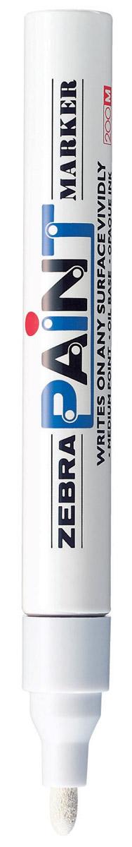 Zebra Маркер перманентный Paint белый312 203030Маркер перманентный Paint с износоустойчивым амортизированным наконечником, выполненный из пластика, станет незаменимым аксессуаром в учебе или работе.Маркер содержит жидкие чернила белого цвета, которые обеспечивают ровные и четкие линии. Насыщенный цвет сплошной линии, оставляемый маркером, не зависит от цвета окрашиваемой поверхности. Маркер перманентный Paint пишет на любой поверхности.