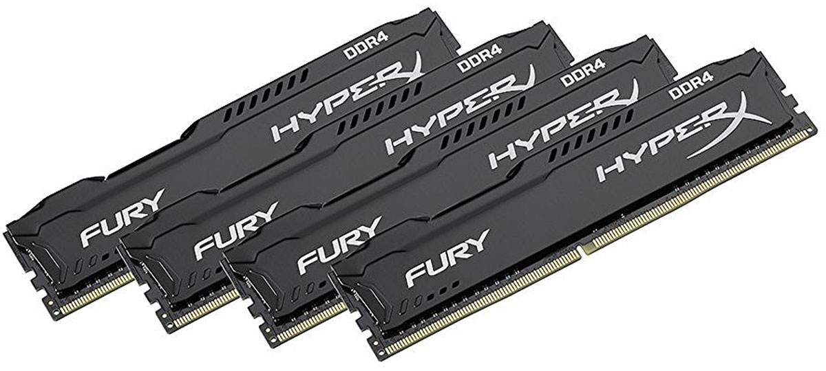 Kingston HyperX Fury DDR4 DIMM 16GB (4х4GB) 2133МГц комплект модулей оперативной памяти (HX421C14FBK4/16)